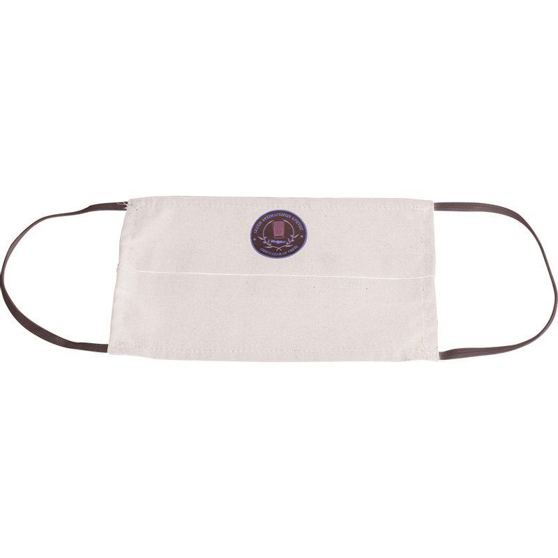 Υφασμάτινη Μάσκα Προστασίας Με Πιέτα Λευκή με εκτύπωση (Μεταξοτυπία)
