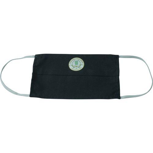Υφασμάτινη Μάσκα Προστασίας Μαύρη με εκτύπωση (Μεταξοτυπία)