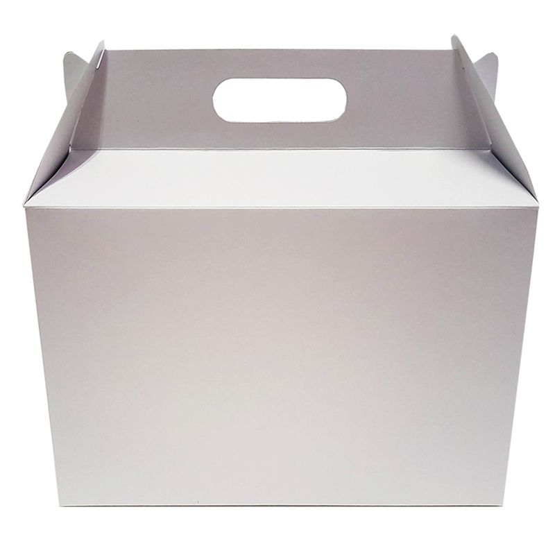 Lunch box από λευκό χαρτόνι