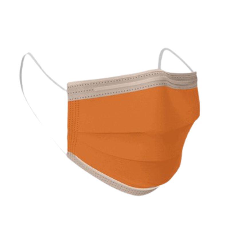 Μάσκα Χειρουργική μιας Χρήσης 3ply Πορτοκαλί