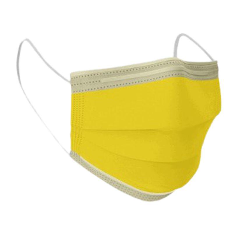 Μάσκα Χειρουργική μιας Χρήσης 3ply Κίτρινη