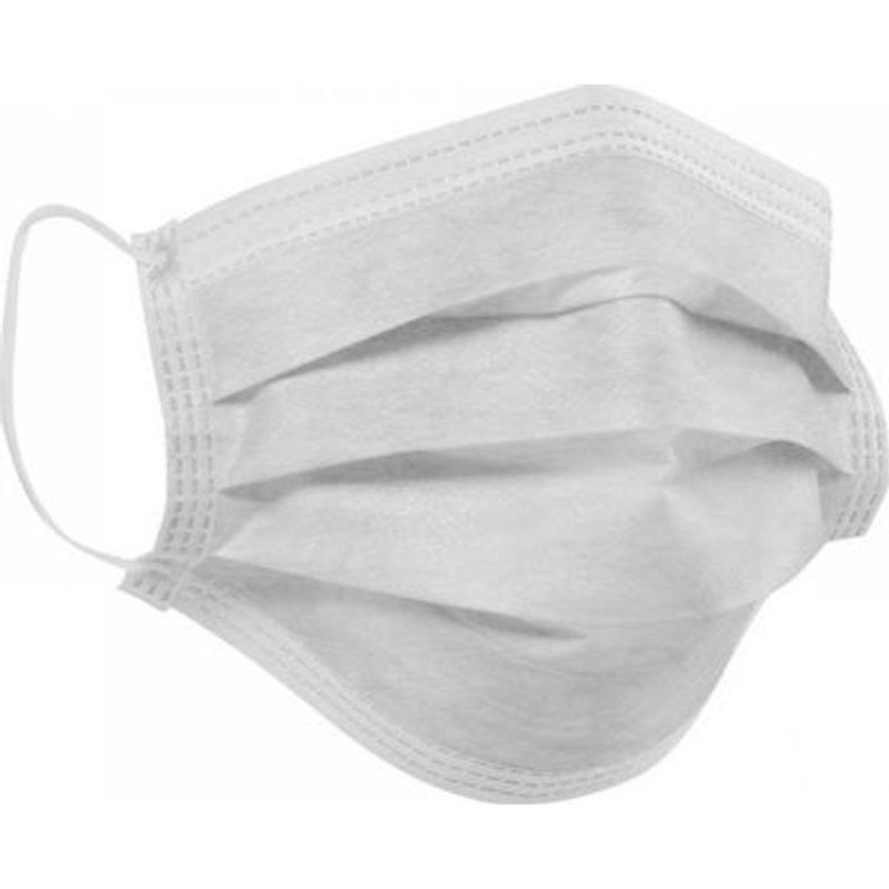 Χειρουργική Μάσκα Προστασίας Προσώπου 3 Στρωμάτων (Λευκή)