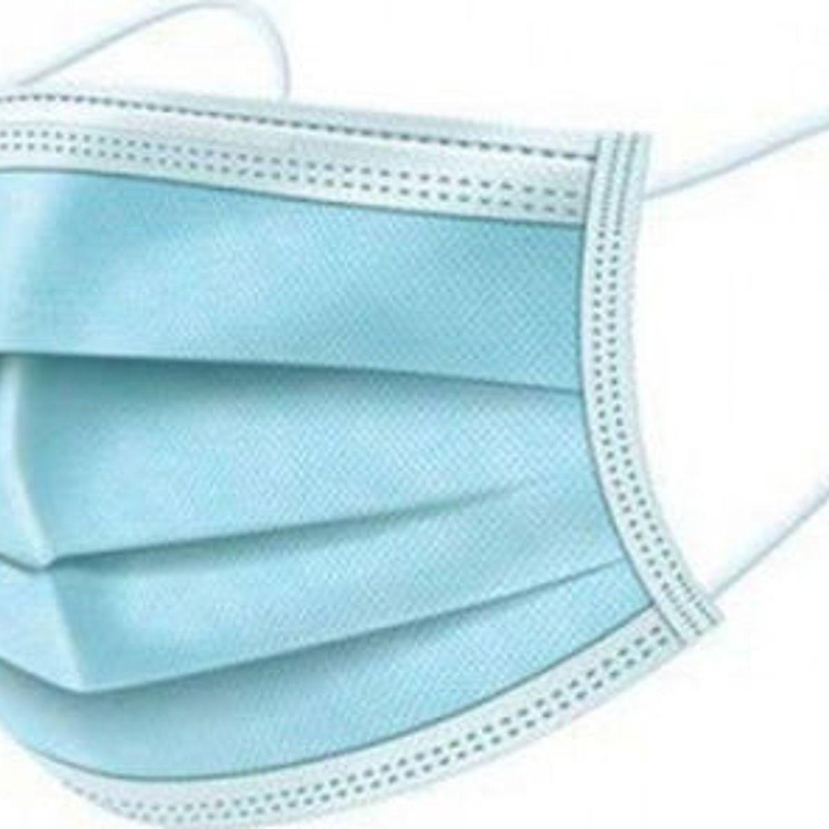 Χειρουργική Μάσκα Προστασίας Προσώπου 3 Στρωμάτων (Γαλάζια)