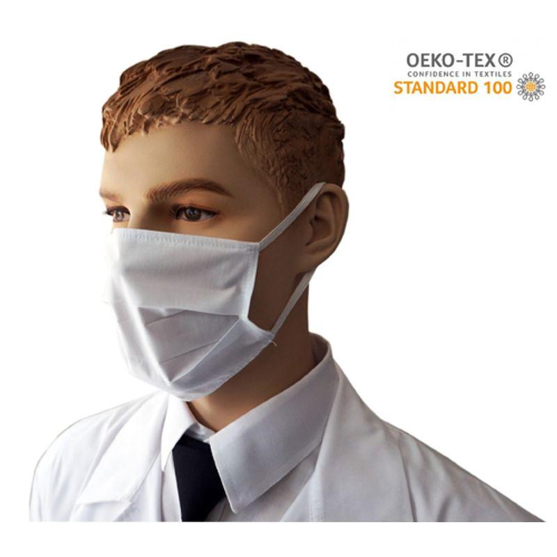 Υφασμάτινη Μάσκα Προστασίας πολλαπλών χρήσεων υποαλλεργική (Λευκή)
