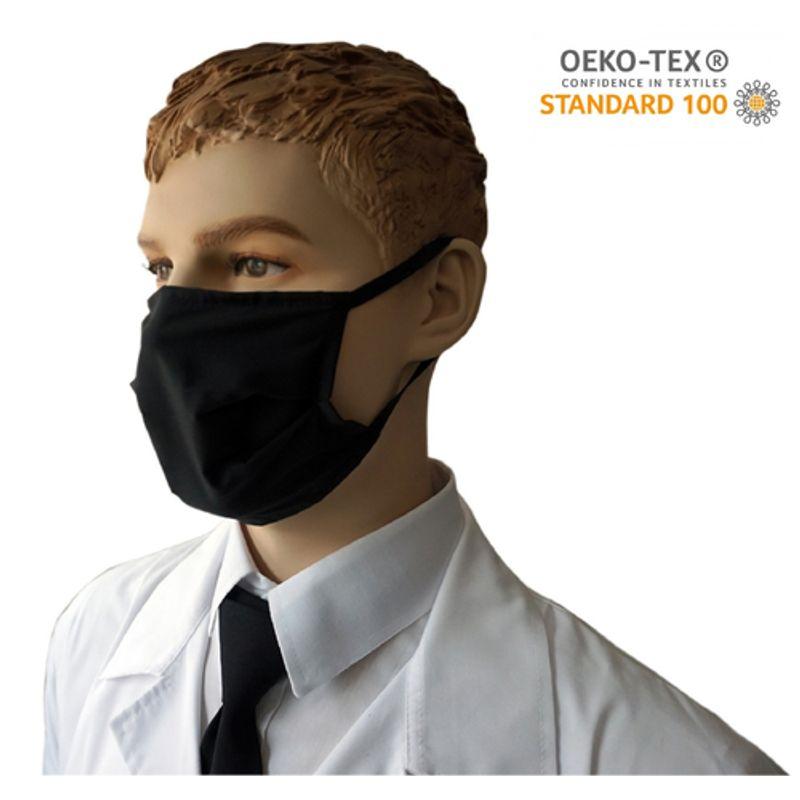 Υφασμάτινη Μάσκα Προστασίας πολλαπλών χρήσεων υποαλλεργική (Μάυρη)