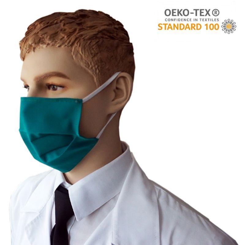 Υφασμάτινη Μάσκα Προστασίας πολλαπλών χρήσεων υποαλλεργική (Πράσινη)