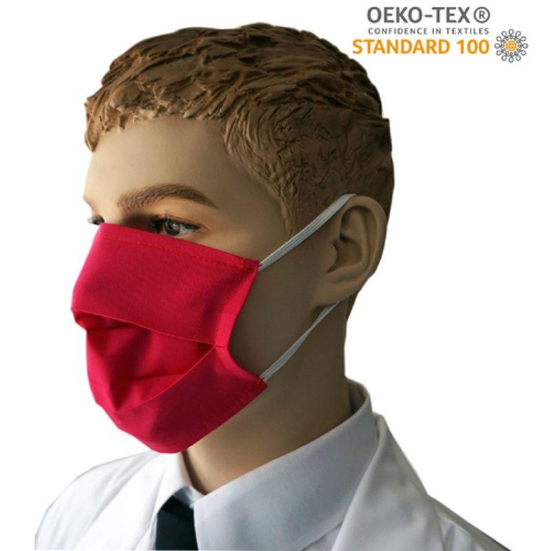 Υφασμάτινη Μάσκα Προστασίας πολλαπλών χρήσεων υποαλλεργική (Κόκκινη)