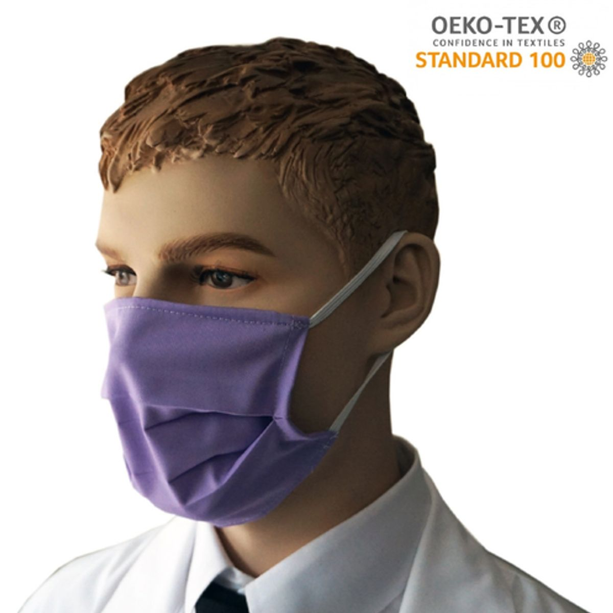 Υφασμάτινη Μάσκα Προστασίας πολλαπλών χρήσεων υποαλλεργική (Μοβ)