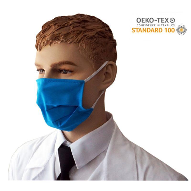 Υφασμάτινη Μάσκα Προστασίας πολλαπλών χρήσεων υποαλλεργική (Μπλε)