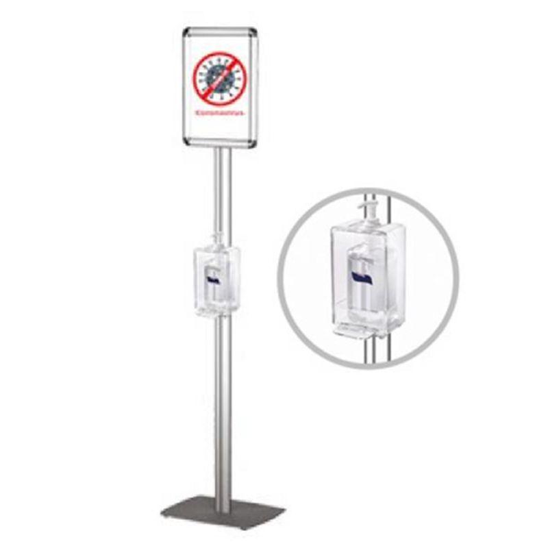 Σταντ για Dispenser με ενημερωτικό Α4 και Plexiglas προθήκη